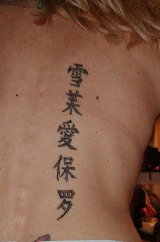 Writing back tattoos