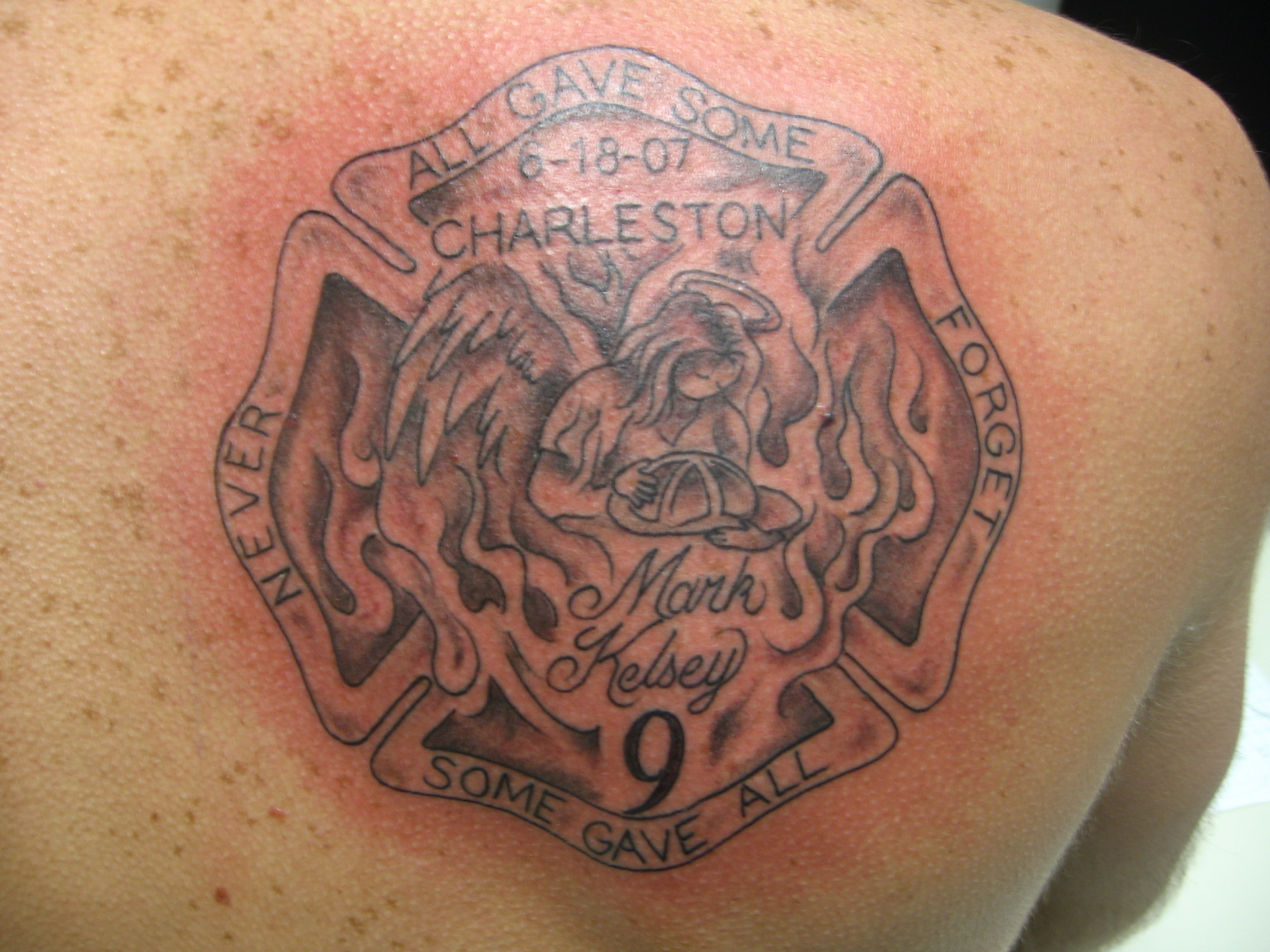 In memory of the charleston firefighters tattoo picture for Tattoo charleston sc