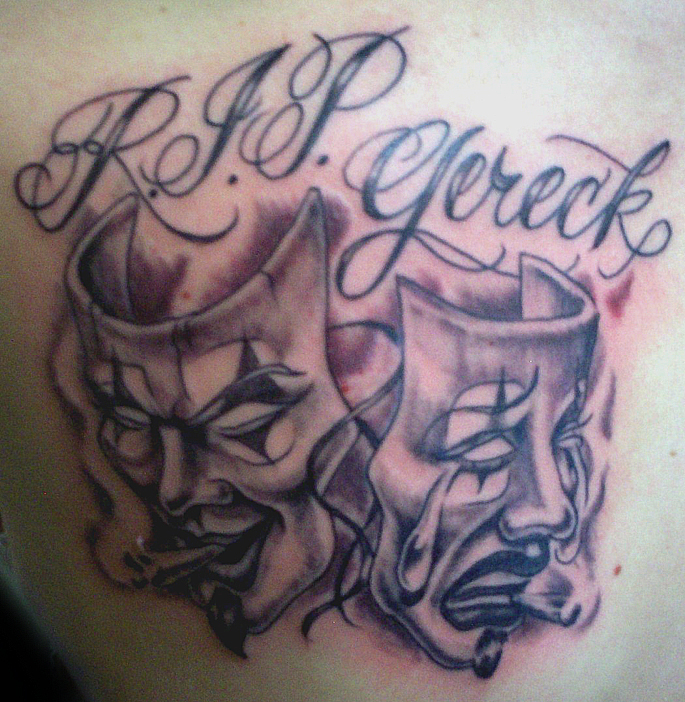 RIP Boog Masks Tattoo Picture