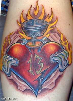 Gearhead Sacred Heart Tattoo Picture