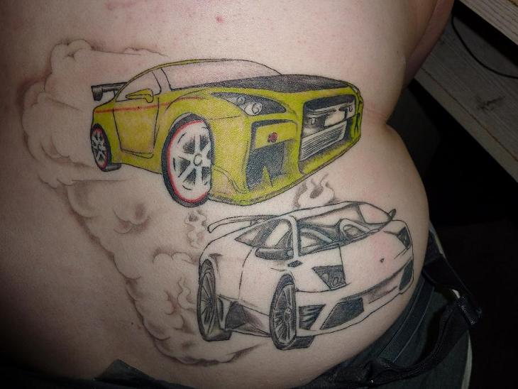 My Karz The GTR And The Lambo tattoo