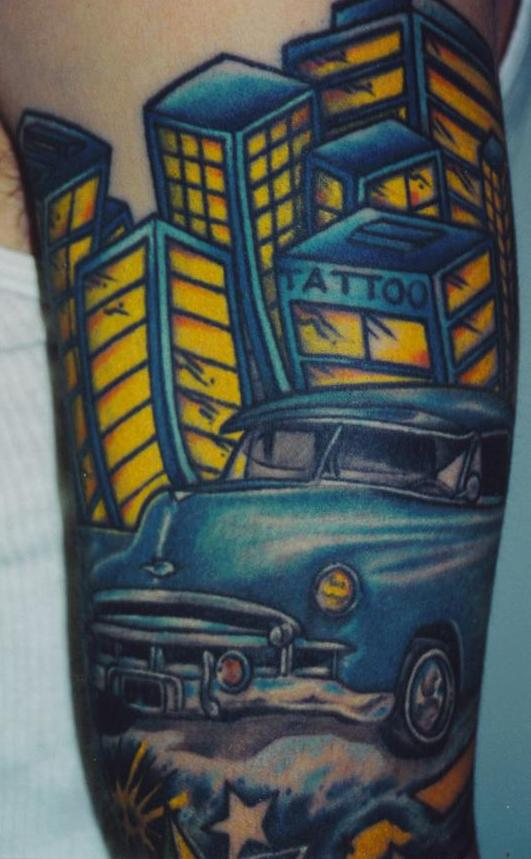 old car tattoos