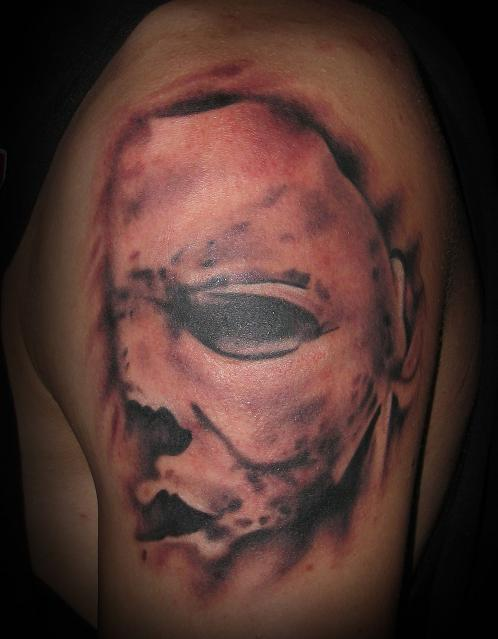 Michael myers portrait from movie poster tattoo picture for Michael myers tattoo