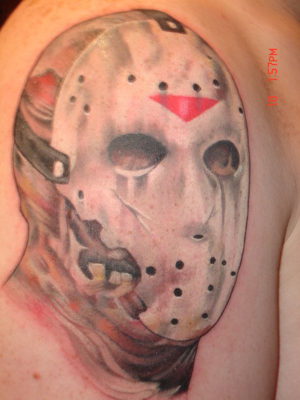 jason friday the 13th tattoo picture. Black Bedroom Furniture Sets. Home Design Ideas