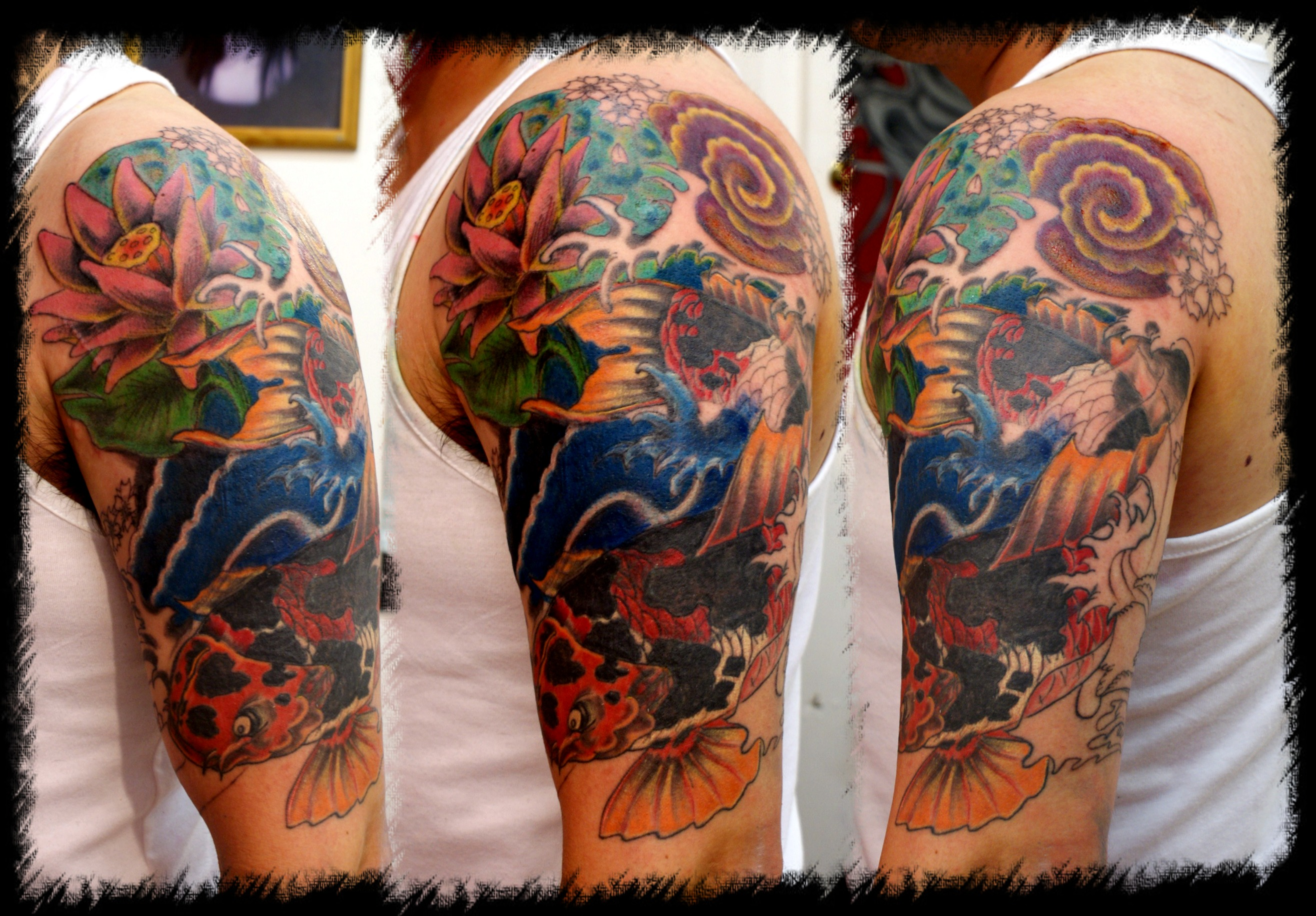 koi cover up w,i,p tattoo picturekoi cover up w,i,p