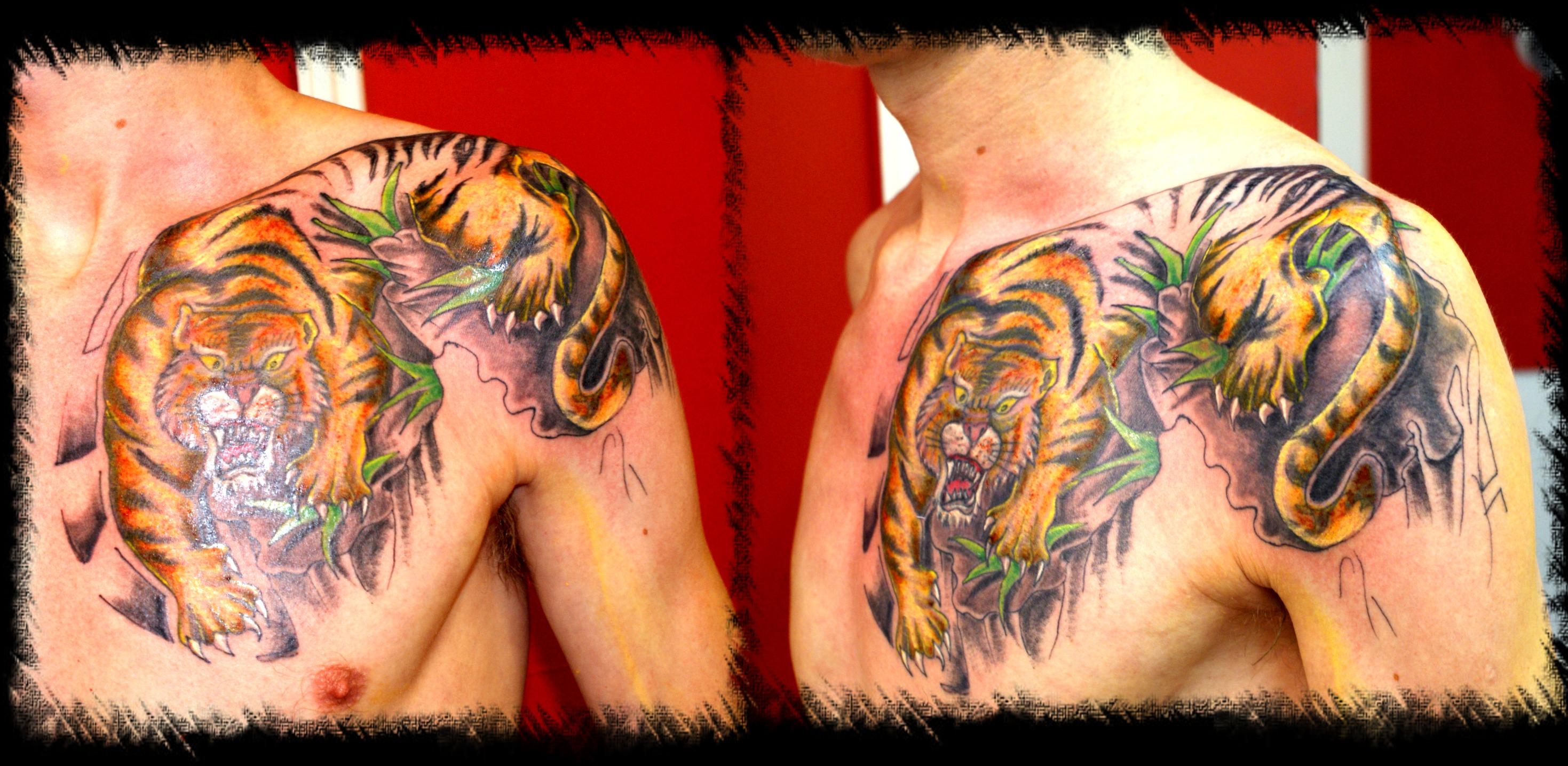 ed1e8c6e775c4 Tiger Japanese Tattoo Picture
