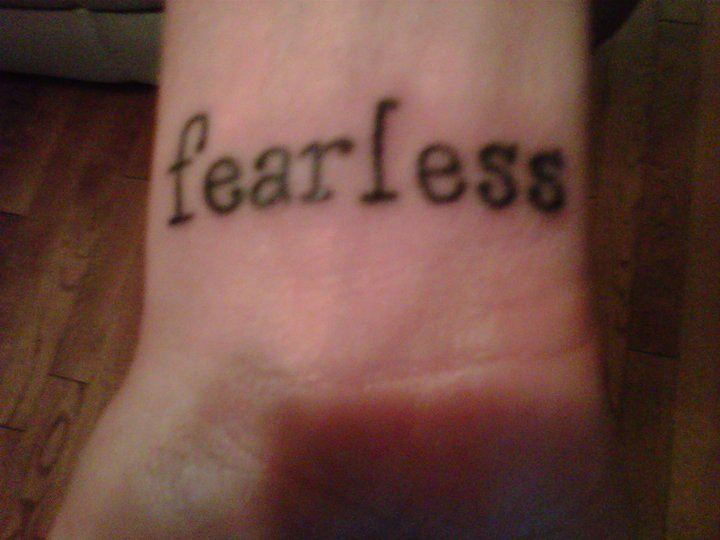 fearless wrist tattoo tattoo picture. Black Bedroom Furniture Sets. Home Design Ideas