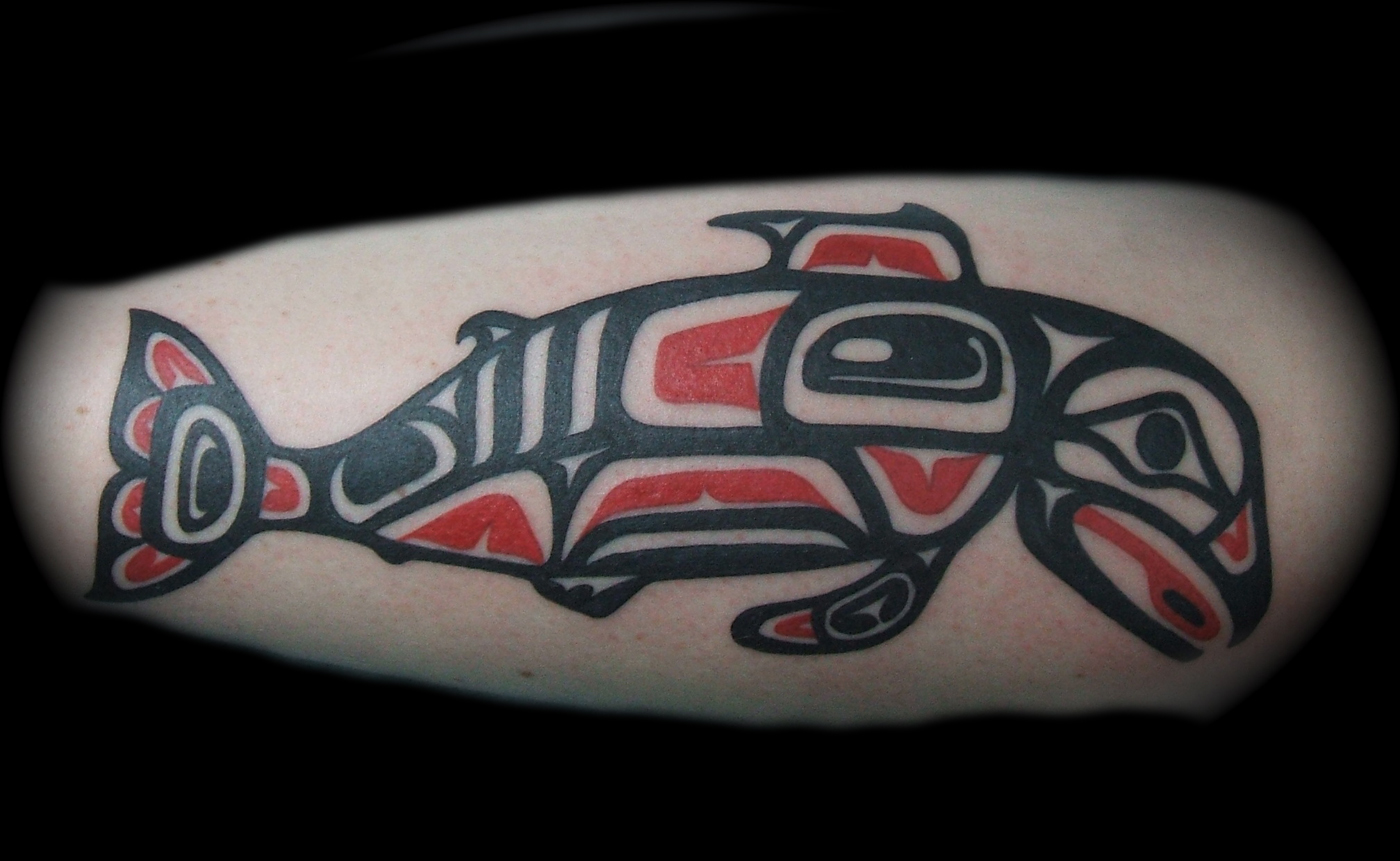 Northwestern Native American Fish Tattoo