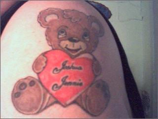 jj 39 s bear tattoo picture. Black Bedroom Furniture Sets. Home Design Ideas