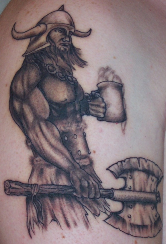 Viking Tattoo Tattoo Design Size:579x850