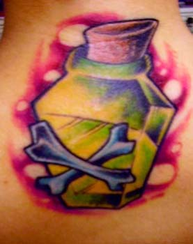 Removetatto on Poison Bottle Tattoo Picture