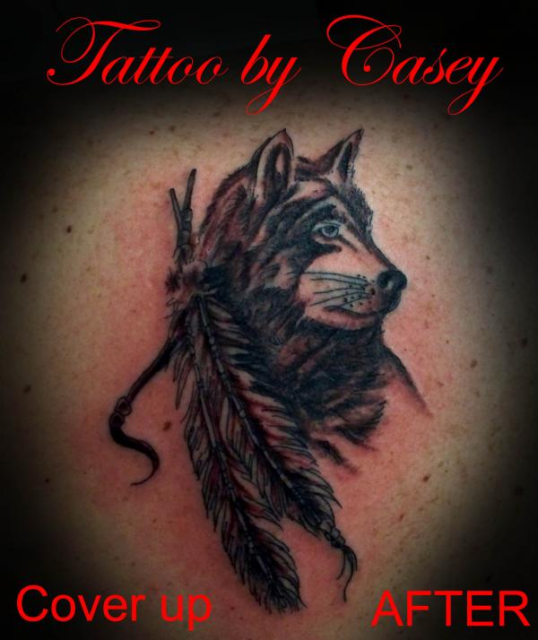 black wolf tattoo - photo #32