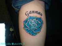 Blue Rose with lettering