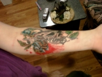 4th tattoo (cover up)