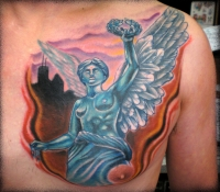 Mexico City Angel cover up by Beto Munoz