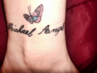 hubbys name and butterfly