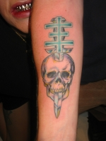 PsychicTV cross and skull