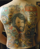 Muppet backpiece