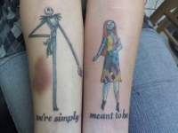 Jack & Sally from The Nightmare Before Christmas
