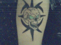 basic skull tattoo