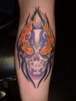 Skull with Tribal