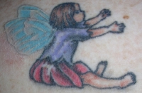 Sitting Fairy - left shoulder