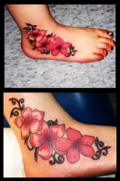 FLOWERy  FOOT TATTOO