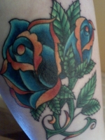 Blue rose coverup