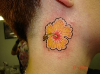 Flower on Neck