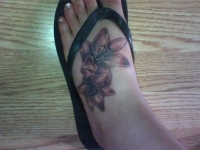 Lilies on my foot