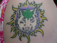 Wolf tattoo Number 3 before fix