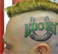 lucky on head