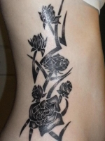 tribal with roses