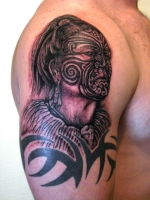 portrait of Maori warrior