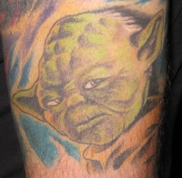 yoda portrait color