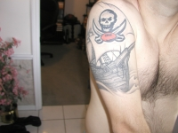 Bucs tattoo with pirate ship