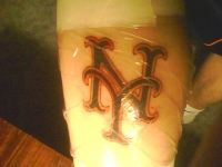 New York Mets tattoo