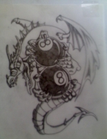 8 ball dragon by me!!