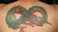 Dragon and Infinity Sign