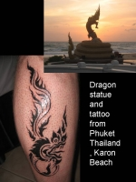Karon Beach Dragon, Thailand and tattoo