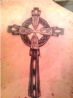 celtic cross on back