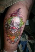 SCARY CLOWN ON LEG