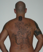 japanese backpiece outline