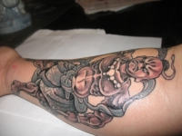 right forearm