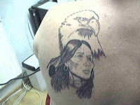 indian and eagle