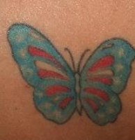 Patriotic Butterfly on upper back