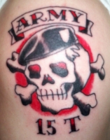 Old School Army Skull