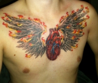 firewings with heart