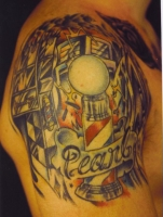 Steve'os Color Barber pole tattoo !!!