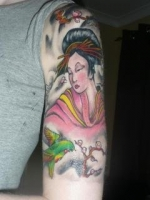 Japanese half sleeve